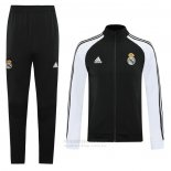 Chandal de Chaqueta del Real Madrid 2020-2021 Negro y Blanco