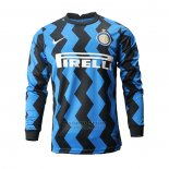 Camiseta Inter Milan 1ª Manga Larga 2020-2021