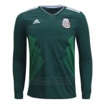 Camiseta Mexico 1ª Manga Larga 2018