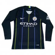 Camiseta Manchester City 2ª Manga Larga 2018-2019