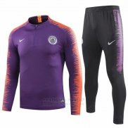 Chandal del Manchester City Nino 2018-2019 Purpura